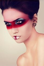 15 Fun and fashionable Halloween makeup ideas #EyesMakeup #Lipstick #Shadow …