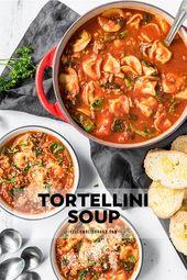 Soupe de tortellinis à la saucisse italienne et aux épinards   – Food:)