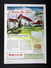 Honeywell Thermostats Knollwood Hopkins Mn House 1950 Print Ad
