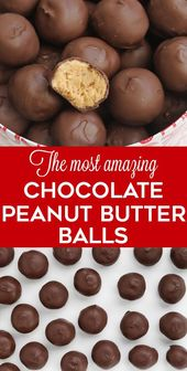 These peanut butter balls are a huge hit! They're no bake, easy to make, and…