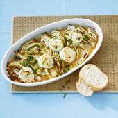 Hinojo con queso de oveja y aceitunas   – Rezepte