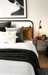 45 beste kleine Schlafzimmer Ideen mit kleinem Bud…