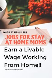 JOBS FOR STAY AT HOME MOMS – #Home #Jobs #Moms #St…
