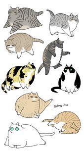 Tong Gae Malen Gae Malen Tong Illustration Katze Cartoon