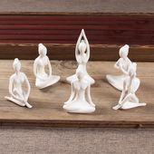 personaje figura bonita para chica WGLG Adornos modernos de interior creativos para yoga decoraci/ón vintage para el hogar sal/ón