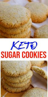 Keto-Kekse! ERSTAUNLICHE ketogene Diätkekse – Einfache kohlenhydratarme Zuckerkekse. BESTE…