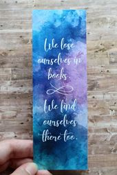 Watercolor Bookmark Printable Bookmarks E-book Quote Bookmark On the spot Obtain Literary Presents Bookish Distinctive Bookmarks for Books Bookworm