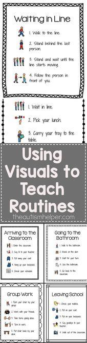 Utilizing Visuals to Train Routines