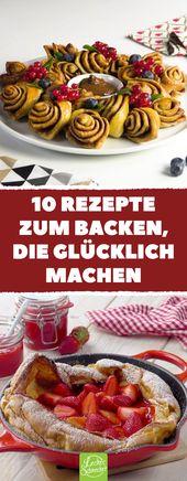 10 recetas para hornear que te hacen feliz   – Kuchen & Torten Rezepte