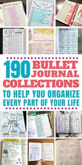 190  Bullet Journal Ideas 2020 {The ULTIMATE List of Trackers and Collections} – Bullet Journal Community Board