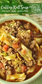 Keto Paleo Cabbage Roll Soup