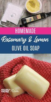 Homemade Olive Oil Soap: Rosemary & Lemon Olive Oil Soap Recipe   – NATURAL CARE. TREATMENTS.