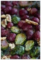 Roasted Brussels Sprouts with Grapes and Walnuts recipe | TeenieCakes.com – a he…   – Recipes