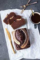 Veganens Bananenbrot Mit Schokolade Von Freiknuspern