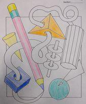 sixth Grade Coloured Pencil Unit