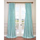 Exclusive Fabrics Dupioni Silk Curtain Drapes (Spa…