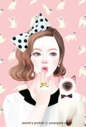 c5d3388b01324117bbf4280f932ac921  cat art anime manga - suranpark.com | Jennie's portrait