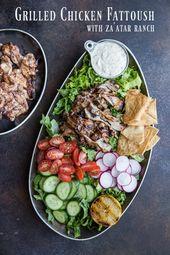 Gegrilltes Hühnchen Fattoush mit Za'atar Ranch – in Brooklyn voll Bus – ☝Reun …   – WikiDIY projects