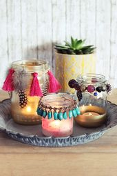 {DIY} Boho Windlichter aus altem Schmuck (s'Bastelkistle) – Recycling