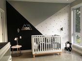 Gleiche Wand mit der weißen Krippe – #crib #Wall #White   – Bed Room's