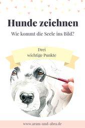 Hunde zeichnen | Anleitung | Tutorial | Augen malen #FineArt   – Fine craft ideas – #Anleitung #Augen #Craft #Fine