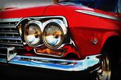 Automotive Art – 1963 Classic Chevrolet Impala – Classic Car – Garage Art – Pop Art – Fine Art Photograph