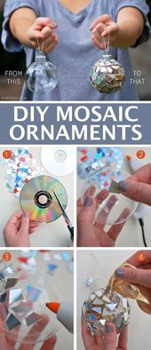 DIY ornaments for Christmas utilizing damaged CDs! — Straightforward DIY craft concepts for adults for the house, for f…