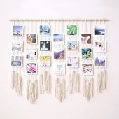 Learn how to make your own macrame photo wall hanging on the blog today >> #para…