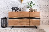 Residential Sideboard Satara WL5.194 from acacia solid wood #Living Room #Flur #Schla …