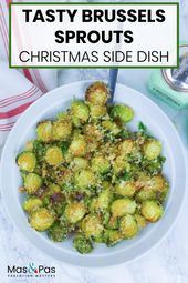 Try this roasted brussels sprouts recipe as a tasty side dish this Christmas! Pa…   – Holiday Recipes