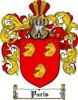 Paris Coat of Arms / Paris Family Crest | Coat of arms, Family ...