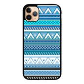 Aztec Pattern Blue Z3811 iPhone 11 Pro Max Case