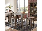 Bar-Sitzgruppe in Treibholzoptik im Landhausstil (5 Stück)   – Products