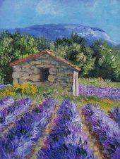 Lavande – Annie Riviere artiste peintre paysagiste provençal.