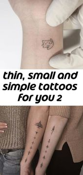 Thin, small and simple tattoos for you 2