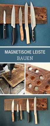 DIY: DIY knife block made of wood, hanging knife block / hanging storage idea for knifes, diy furniture via DaWanda.com