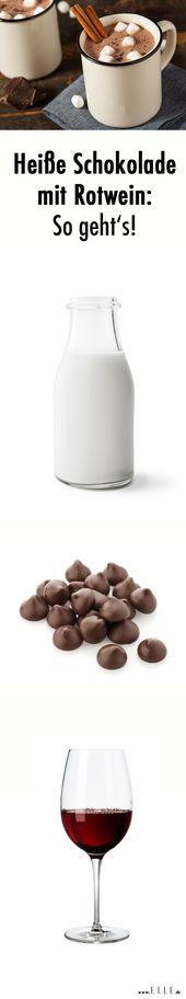 Heiße Schokolade mit Rotwein: das Rezept