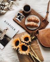 """Polly Florence on Instagram: """"Sunflowers are one of my favorite things about summer (as well as lazy mornings in bed with coffee, croissants and a beautiful magazine!) …"""""""