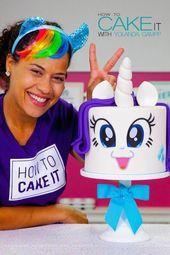 Nicht ALLE meine Kuchen sind Regenbogen und Einhörner, aber das ist auf jeden Fall !! Dieses r…