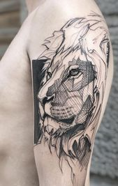 The lion tattoo bird