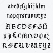 Download – mittelalterliches Alphabet – Stockilllustration