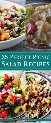 25 Perfect Picnic Salad Recipes from dishesanddust…