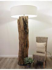 Rustic Wooden Tree Trunk Table Lamp Kenyon Diy Floor Lamp