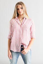 7224cde427d901 Drew Raya Poplin Off-Shoulder Button Down Shirt