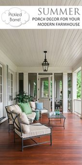 Summer Porch Decor For Your Modern Farmhouse