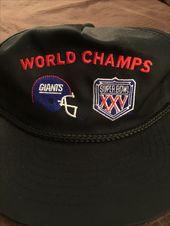 deb4a0f06 New York Giants Super Bowl XLVI 46 Champions NFL Football Mens Large Blue  Shirt