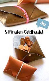 5-minute DIY: Purse without sewing yourself   – Nähen – Taschen und Accessoires