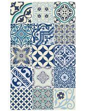 Vinylmatte Eclectic blau von Beija Flor