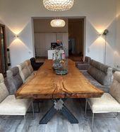 Eichentisch Baumtisch Esstisch unverleimt aus eine…
