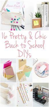 16 CHIC BACK TO SCHOOL-DIY-PROJEKTE   – Diy School Supplies